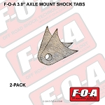 3.0 Inch Axle Mount Shock Tabs, 2-pack