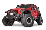 Warn Stubby Crawler Bumper with Grille Guard Tube for Jeep JL, JK & JT