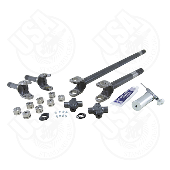 USA Standard 4340 Chrome-Moly Axle Kit, '72-'81 Jeep CJ, Dana 30, 27 Spline, With Yukon Super Joints