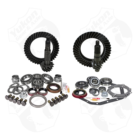 Yukon Gear & Install Kit Package, Reverse Rotation Dana 60 Front/'89-'98 GM 14T Rear
