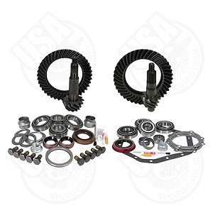 USA Standard Gear & Install Kit Package, Reverse Rotation Dana 60 Front/'88 & Down GM 14T Rear, 5.38 Ratio Thick